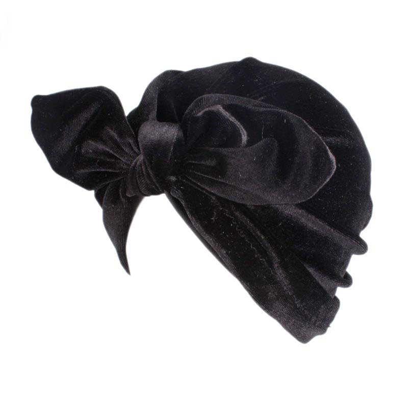 2019 mujeres Arco-Nudo de hijab turbante tapas pañuelo musulmán sombrero indio sombrero turbante mujer chicas Diadema con para la quimio