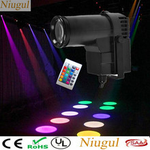 Remote Kontrol Nirkabel 10W LED Pinspot Light/LED Spot Light/DMX512 RGBW LED Beam Efek Panggung/DJ LED Lampu Sorot(China)