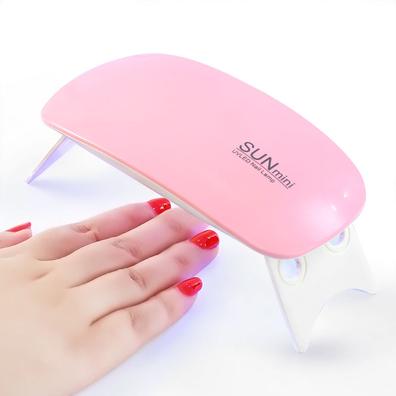 6W White Mini UV LED Lamp Nail Dryer Portable USB Cable For Prime Gift Home Use Gel Polish DIY Art Tool