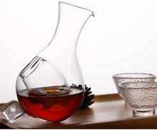 Decantador de Whisky pequeño, jarra de agua transparente con bolsillo de hielo, jarra de vidrio para zumo, té y café, 1 decantador (13oz - 400ml)