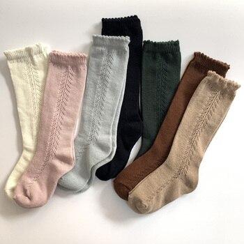 Детские носки до колен, длинные хлопковые Льняные носки для младенцев, весенне Летние Теплые носки для девочек и мальчиков, детские носки принцессы|Носки|   | АлиЭкспресс