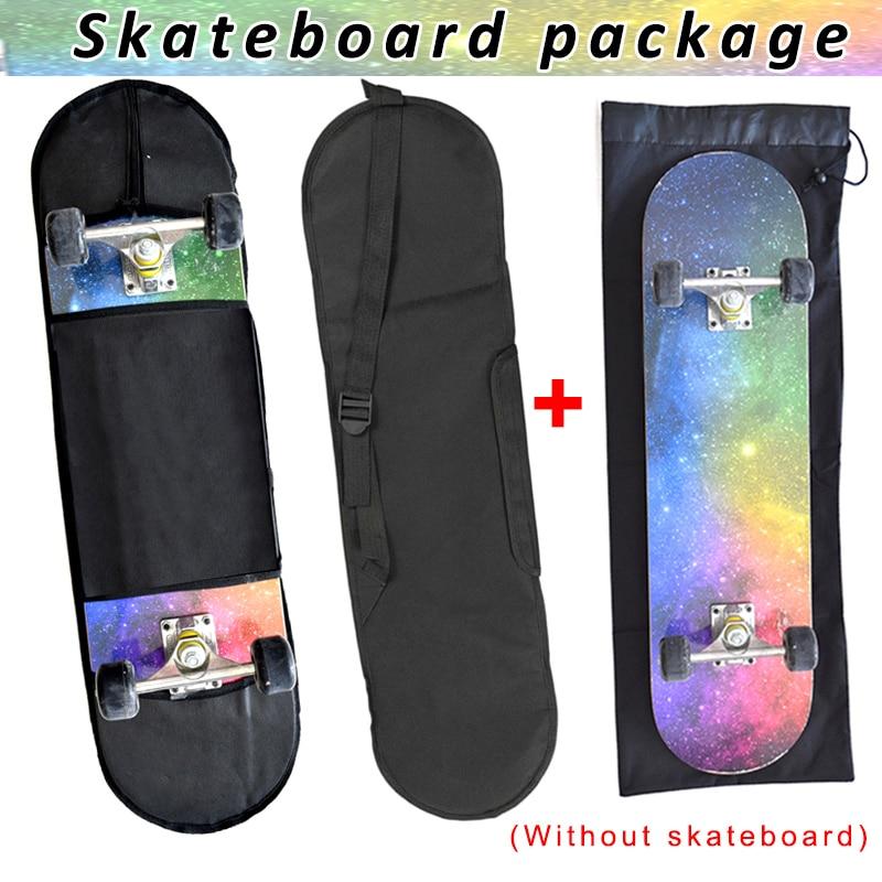 2 Pcs Skateboard Bag Storage Shoulder Carry Case Adjustable Portable For Outdoor ENA88