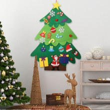 Creative Felt Christmas Tree for Kids Diy Christmas Tree with Toddlers Ornaments for Children Xmas Gifts Hanging Home Door Wall(China)