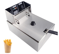 Mini Deep Fryer Smoke Free French fries fried chicken Oil Frying Machine For Business