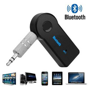 Premium wireless bluetooth receiver transmitter adapter 3.5mm car music audio jack A2DP headset receiver hands-free jack image