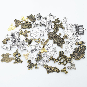 50g 100g Vehicle Car Mixed Charms Pendant Bracelets Necklaces DIY Accessories for Wholesale Craft Jewelry Making Components DIY 50g 100g letters mixed charms pendants vintage antique bronze silver bracelets necklaces craft metal alloy diy jewelry making