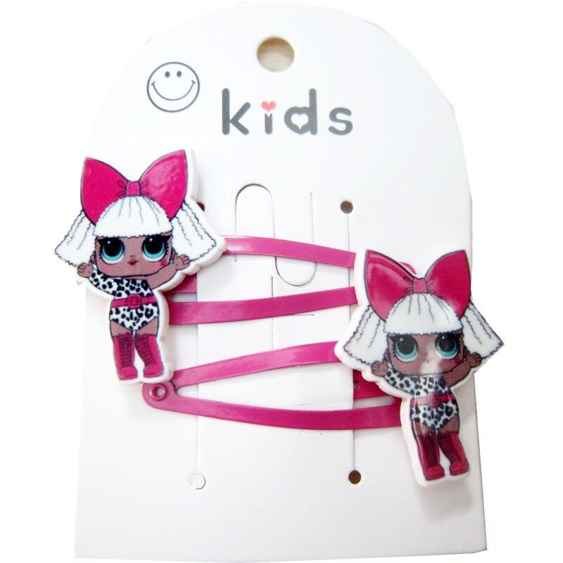 2 Pcs Kids LOL Hair Clip for Baby GirlsHair Accessories   Headwear   Lol Hairpins Cartoon Mermaid Horse Rainbow Hair Clip Baby Bows