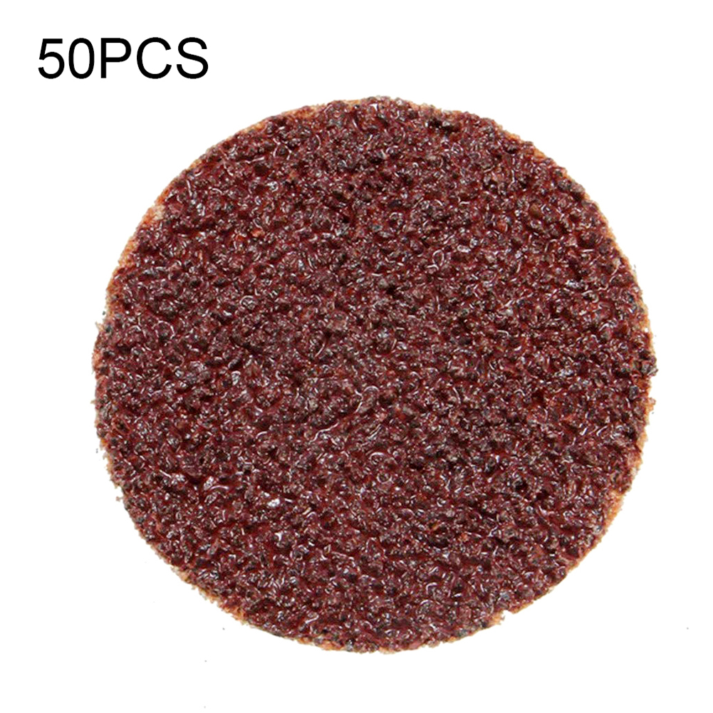 50 Pcs 3 Inch 24 Grit Roll Lock Sanding Pad Grinding Disc For Abrasive Tools
