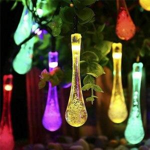 Image 3 - Rantion 30/100 Led Solar String Lights Waterdichte Raindrop String Fairy Lights Voor Patio Garden Party Gazon Vakantie Decoraties