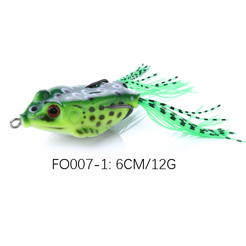 Fishing Lure Float Soft Silicone Bait 12g//6cm Light Artificial Frog Crank Bait 3