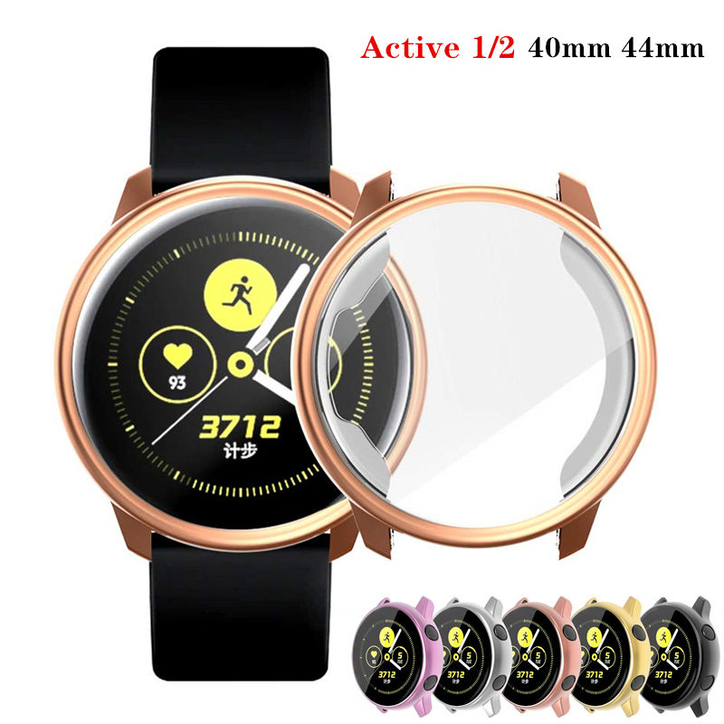 Screen Protector Case For Samsung Galaxy Watch Active 2 40mm 44mm Soft All-Around TPU Cover Bumper Watch Active2 Accessories