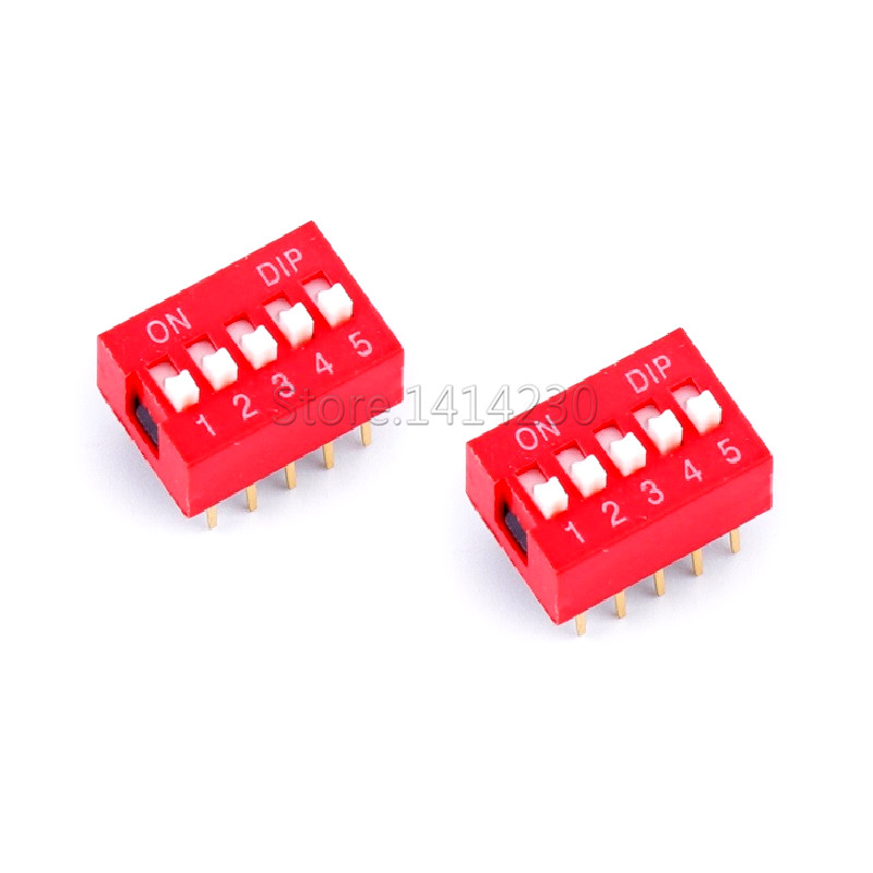 10PCS High Quality DIP Switch 5 Bit Way 2.54mm Slide Type Switch 5 Position