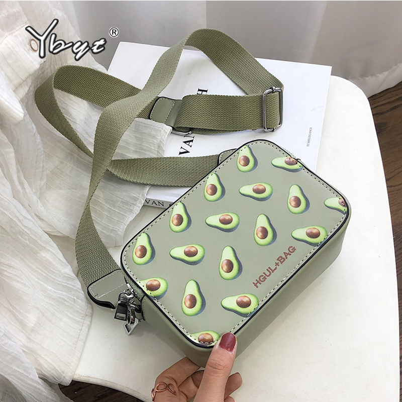YBYT New Fashion Crossbody Bags For Women High Quality PU Leather Small Handbag Clutch Many Pocket Female Shoulder Messenger Bag