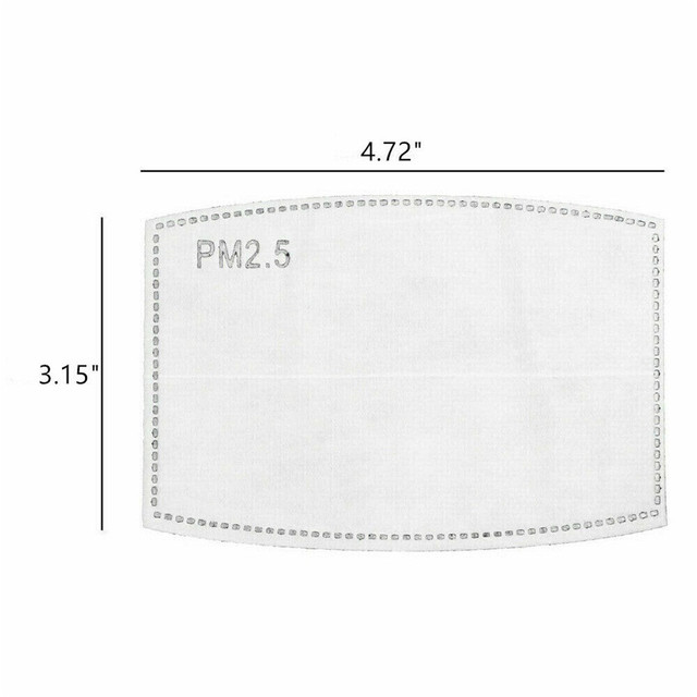 #H40 PCS PM2.5 Activated Carbon Face Mask Filter Breathing Protective Mouth Mask Mat bacteria proof Flu masks Pad 2