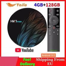 2020 Smart TV BOX Android 9.0 TV BOX HK1 MAX RK3318 4GB RAM 128GB ROM 64GB Wifi 4K lecteur multimédia HK1MAX décodeur 1G/8G youtube