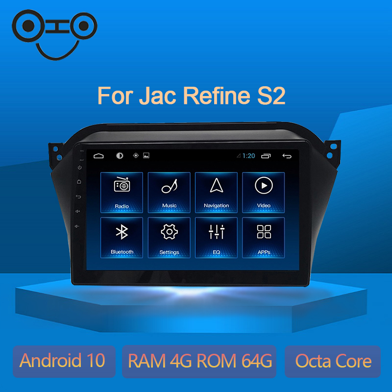 Refine S2 Android 9.0 Octa Core 4+64G Gps Navigation Car Stereo Audio Jac Refine S2
