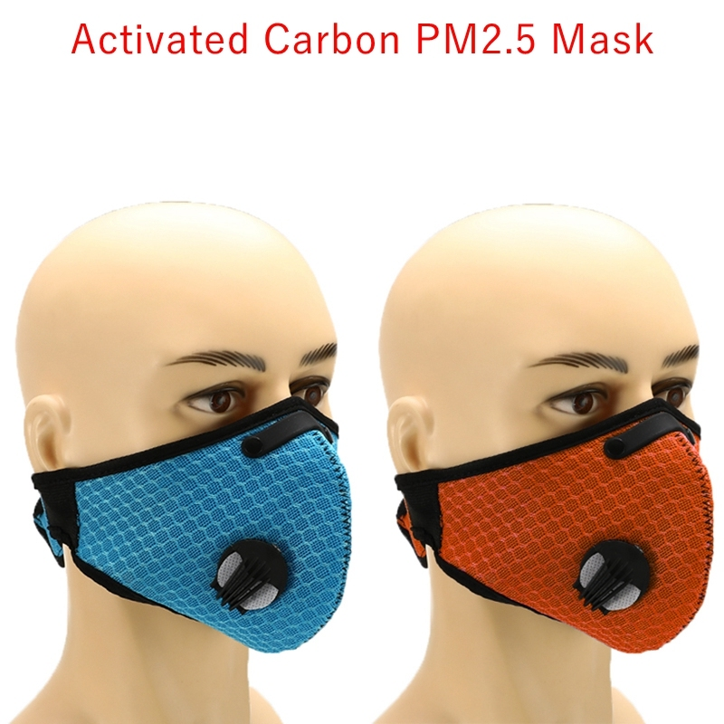 Anti-Dust Mask Working Masks With Filter Half Face Carbon Masks Face Cover Windproof Protective Mesh Mask Outdoors Sport Cycling