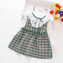 Baby girl dress spring and autumn baby princess in the child fake two-piece vest