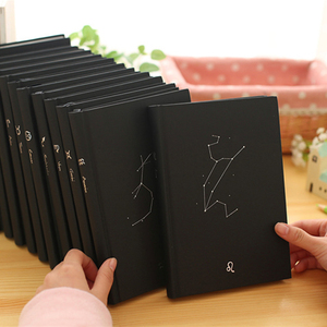1pcs Creative trends Twelve constellations Hardcover Notebook cute personal diary agenda notebooks school Composition caderno
