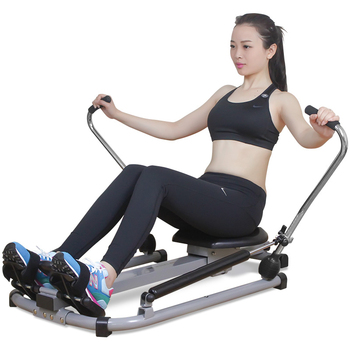 Rowing machine home silent hydraulic rowing machine fitness equipment multi-function scull rowing exercise waist and back фото