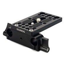 Kamera Grundplatte Montage Platte Stativ Montage Platte mit 15mm Schiene Rod Clamp für Stange Unterstützung DSLR Kamera Rig