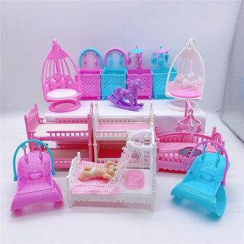 2020 موضة جديدة باربي دمية سرير مزدوج ملحقات لعبة أطفال لطيف أفضل هدية للبنات باربي أداة بلاستيكية