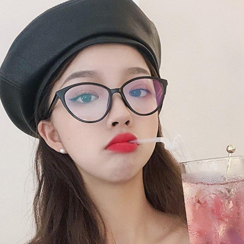 KOTTDO Retro Fashion Decoration Cat Eyeglasses Classic Women Transparent Computer Optical Glasses