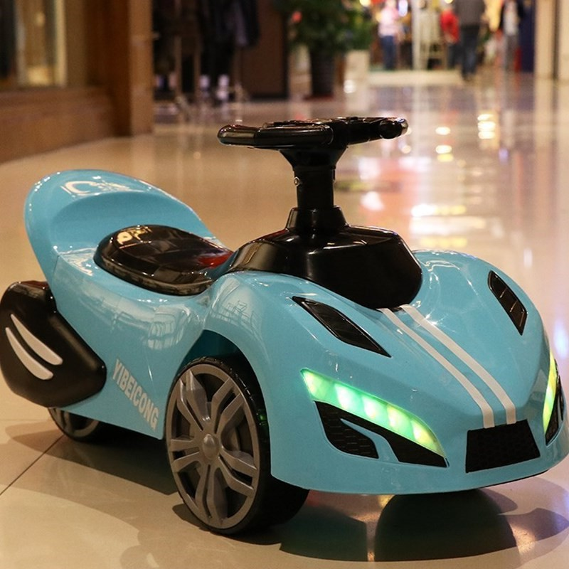 New Style Kid Car Scooter Luge Swing Car Unisex Baby-Seat Ride Four Wheel Small Car With Music Light