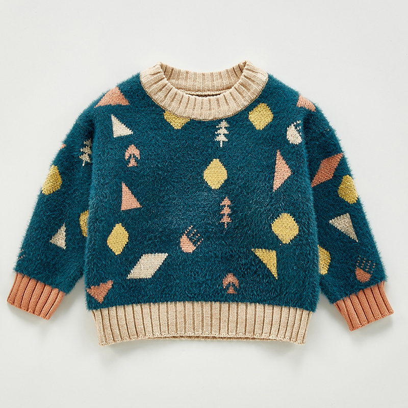 Autumn Baby Girls Boys Knitted Sweater Toddler Girls Boy Casual Cartoon Warm Cotton Sweaters Coat Kids Pullovers Sweaters 4