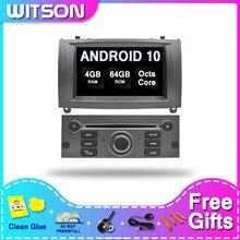 DE magazynie! WITSON Android 10 ekran dotykowy Radio samochodowe GPS dla PEUGEOT 407 2GB RAM + 16GB 4 Octa Core + DVR/WIFI + DSP + DAB