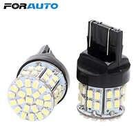 FORAUTO 2pcs T20 7443 Car LED Brake Light Stop Rear Bulb Backup Reserve Lights W21/5W 50 SMD Canbus Auto Turn Signal Lamp