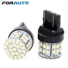 FORAUTO 2 шт. T20 7443 Автомобильный светодиодный стоп-светильник, стоп-сигнал заднего хода, резервный светильник s W21/5W 50 SMD Canbus, автомобильная сигна...