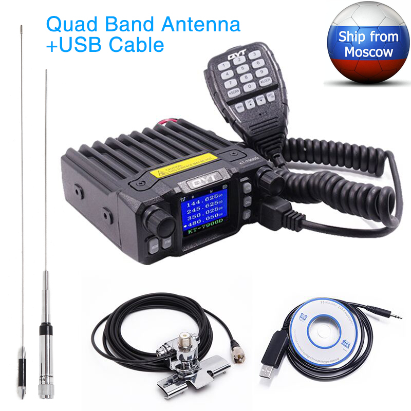 QYT Power-Supply KT-7900D Mobile-Radio Quad-Band Uv-Transceiver Mini 25W with Or Latest-Version