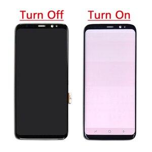 Image 2 - Amoled LCD Mit Rahmen Für Samsung S8 G950 G950U G950F S8 Plus G955 G955F Display Burn Schatten + Touch screen Digitizer Montage