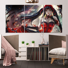 Unframed Date A Live Anime Poster Sexy Girl Kurumi Tokisaki Wall Pictures for Living Room Decor Cartoon Art Painting