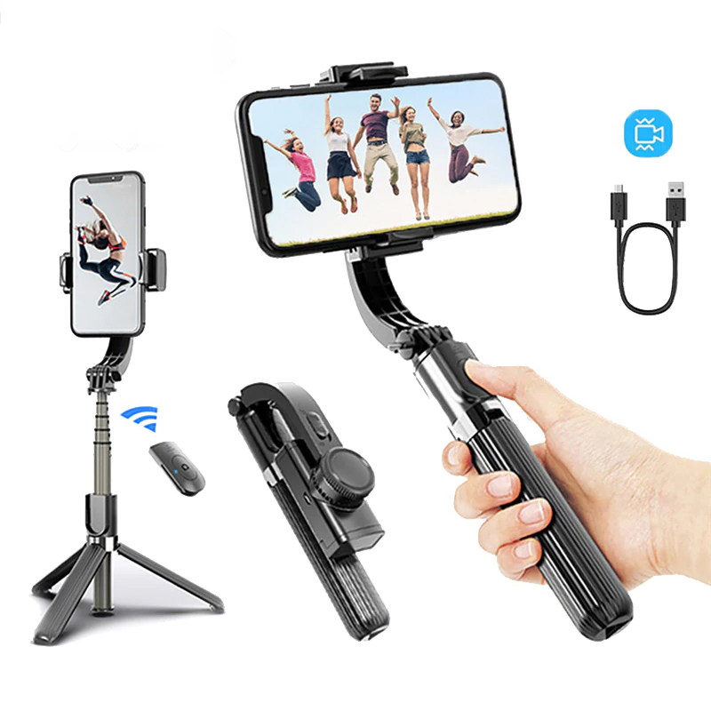 Telefon Stabilisator Video Rekord Universal Handheld Smartphone Gimbal Stabilisatoren Drahtlose Bluetooth Selfie Stick Vlog Live-Stream