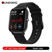 RUNDOING חכם שעון גברים מלא מגע מסך דם לחץ חמצן נשים Smartwatch הודעה להזכיר ספורט שעון גשש כושר