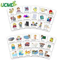 Cartões de programação magnéticos para crianças, cartões de gabarito para coleção de calendário, horário de 40 peças, ímã de responsabilidade, comportamento de tarefa, adesivo