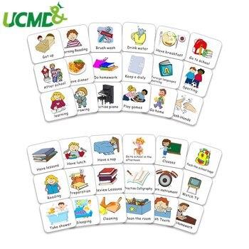 Magnetic Kids Calendar Collection Chore Cards For Time Schedule 40pcs Fridge Magnet Responsibility Behavior Task Cards Sticker