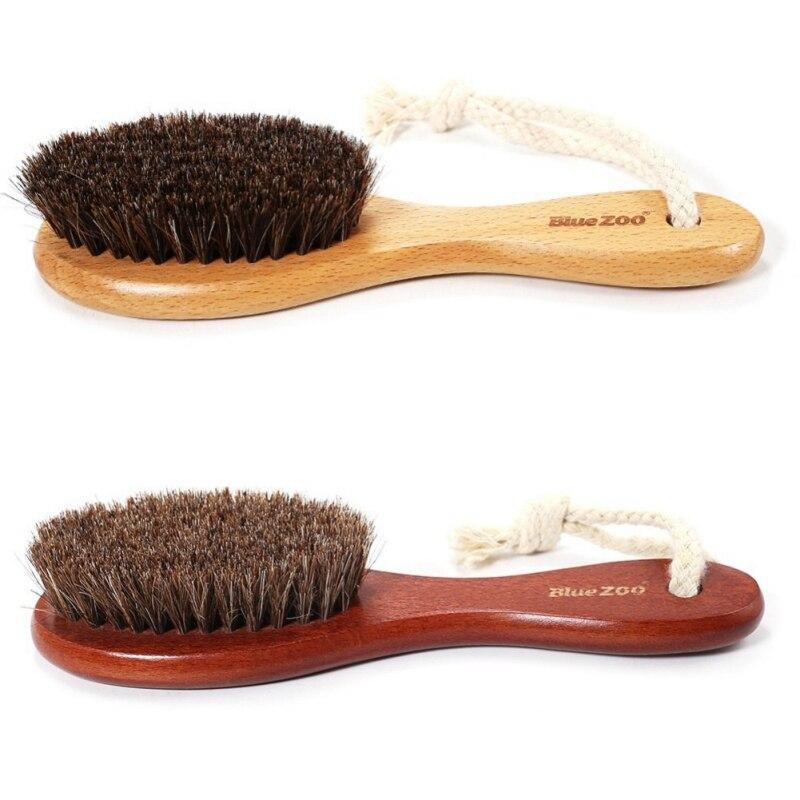 100% Natural Horse Hair Brush Hairdressing Hair Comb Beard Comb Swine Mane Airbag Wucalyptus Oil Wood R1