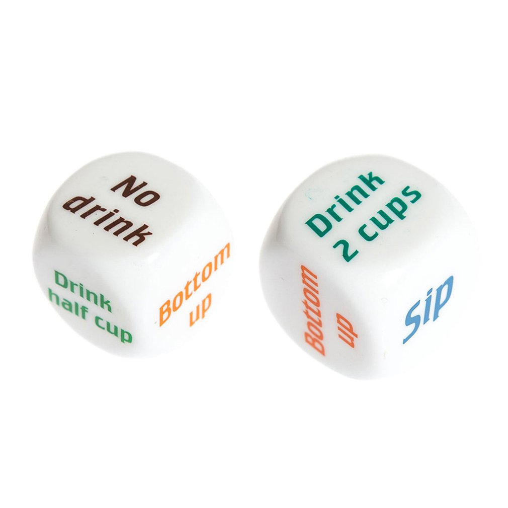 1 Pair Drinking Wine Mora English Dice Games Gambling Adult Sex Game Lovers Bar Party Pub Drinking Decider Fun Toy