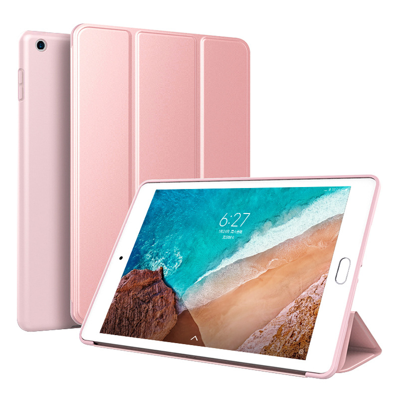 Pink Pink Trifold Leather Smart Case for iPad 10 2 7th generation 2019 Slim Translucent PC Back Cover