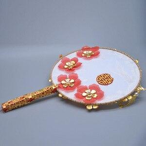 Image 5 - Kyunovia złoty bukiet luksusowy dla nowożeńców bukiet ślubny kości słoniowej wielki Gatsby broszka ślubna wentylator bukiet D150