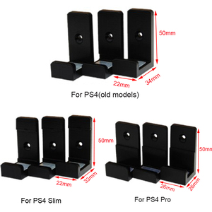 Image 5 - 1Set 3D Print Wall Controller Holder For Sony PS4 Slim Pro Console Stand Host Rack Bracket Game Storage Mount Accessories