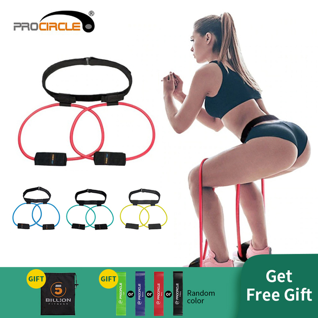 Fitness Women Booty Butt Band Resistance Bands Adjustable Waist Belt Pedal Exerciser for Glutes Muscle Workout Free Bag