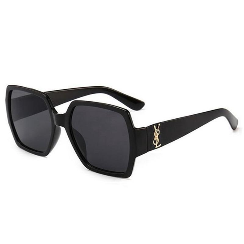 2020 Oversized Square Sunglasses Women Luxury Brand Fashion Flat Top Black Clear Lens One Piece Men Gafas Shade Mirror UV400