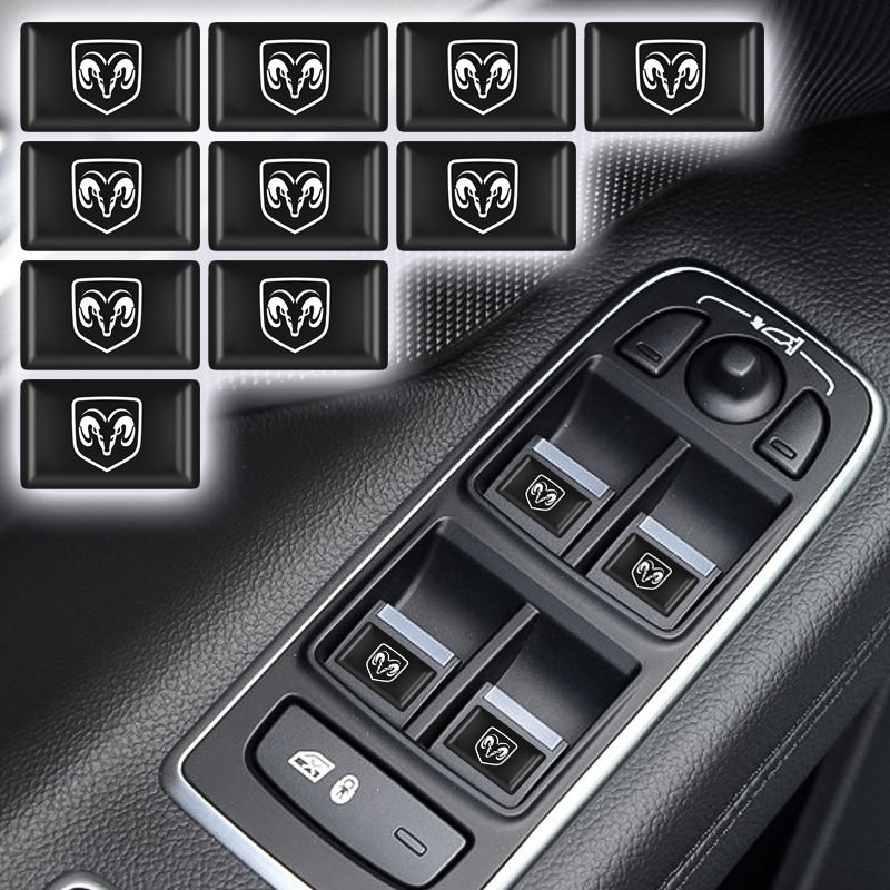 Car Sticker Small Decorative Badge Hub Caps Steering Wheel For Dodge Journey Ram 1500 Challenger Caliber Nitro Charger Durango