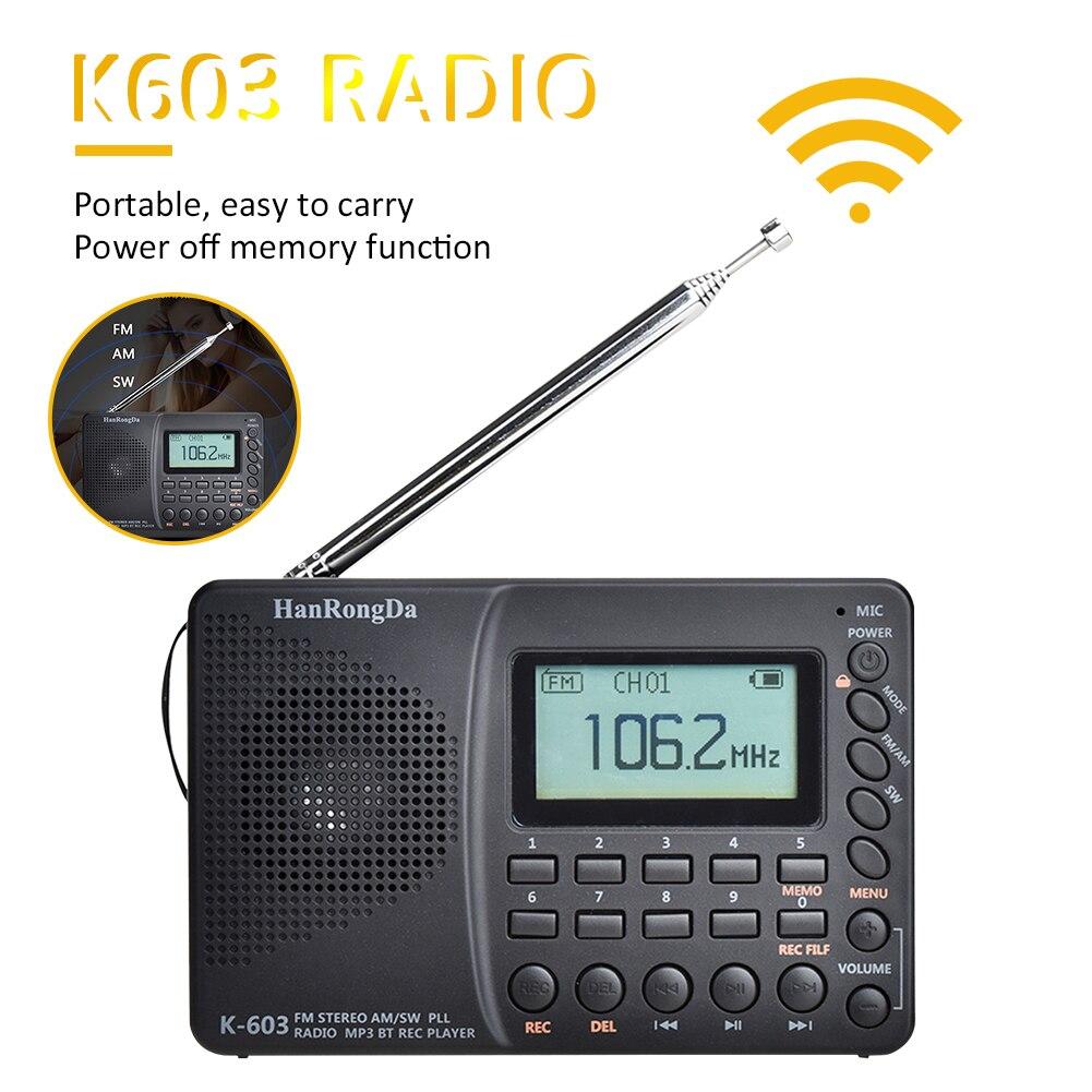 Radio numérique portative daffichage à cristaux liquides de Radio FM AM SW avec le haut-parleur de Bluetooth 5.0