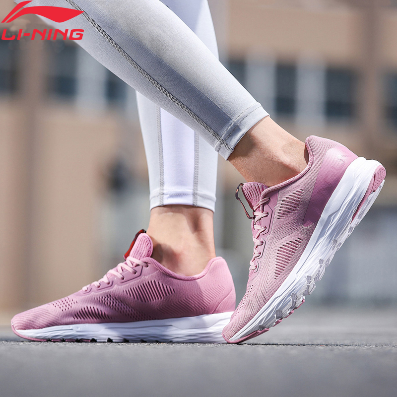 Li-Ning Women ACE RUN Running Shoes Light Breathable Wearable Anti-Slip LiNing Li Ning Sport Shoes Sneakers ARBN028 XYP757
