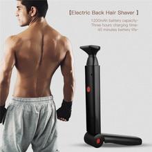Men Shaving Foldable Handle Electric Back Hair Shaver Foldable Back Battery Manual Hair Shaver Long Handle Hair Remover Tool